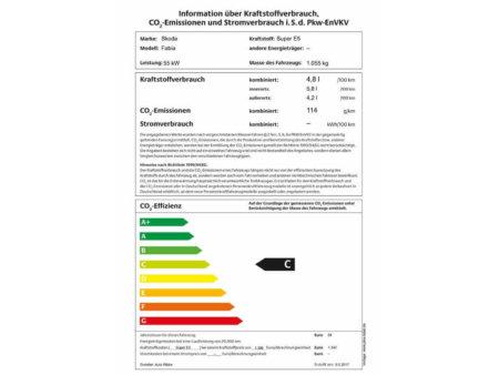 Skoda-Fabia-1.0-Ambition-Green Tec - PKW Label