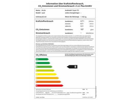 Skoda Rapid Spaceback 1,2TSI (Green tec) Ambition - PKW Label