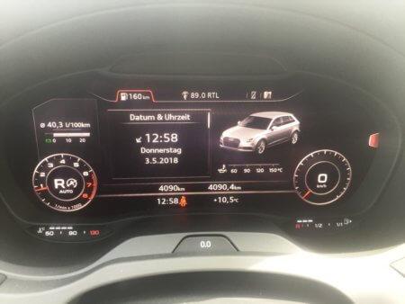 Audi A3 1,5 TSI Sportback - Kombiinstrument