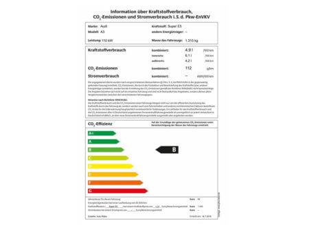 Audi A3 1,5 TSI Sportback - PKW Label